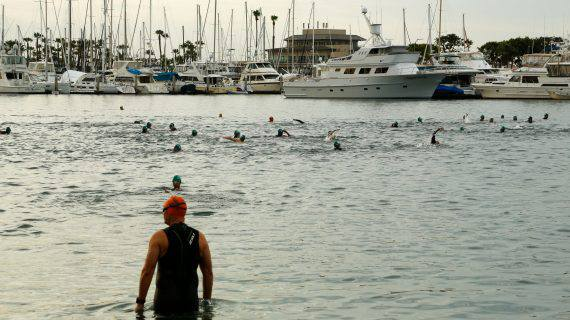 San Diego International Triathlon swimmers