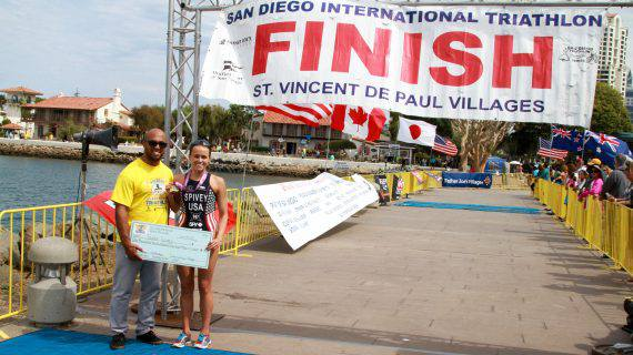 San Diego International Triathlon Finish Line