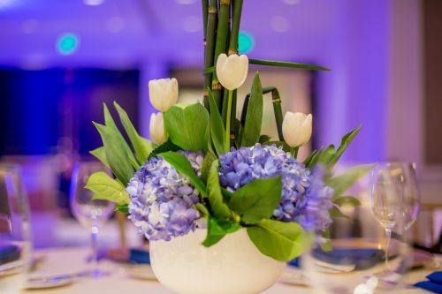 Flowers on the table during Children's Gala San Diego 2017