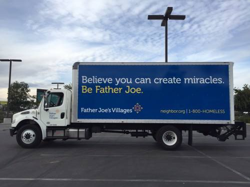 father joe's villages donation truck