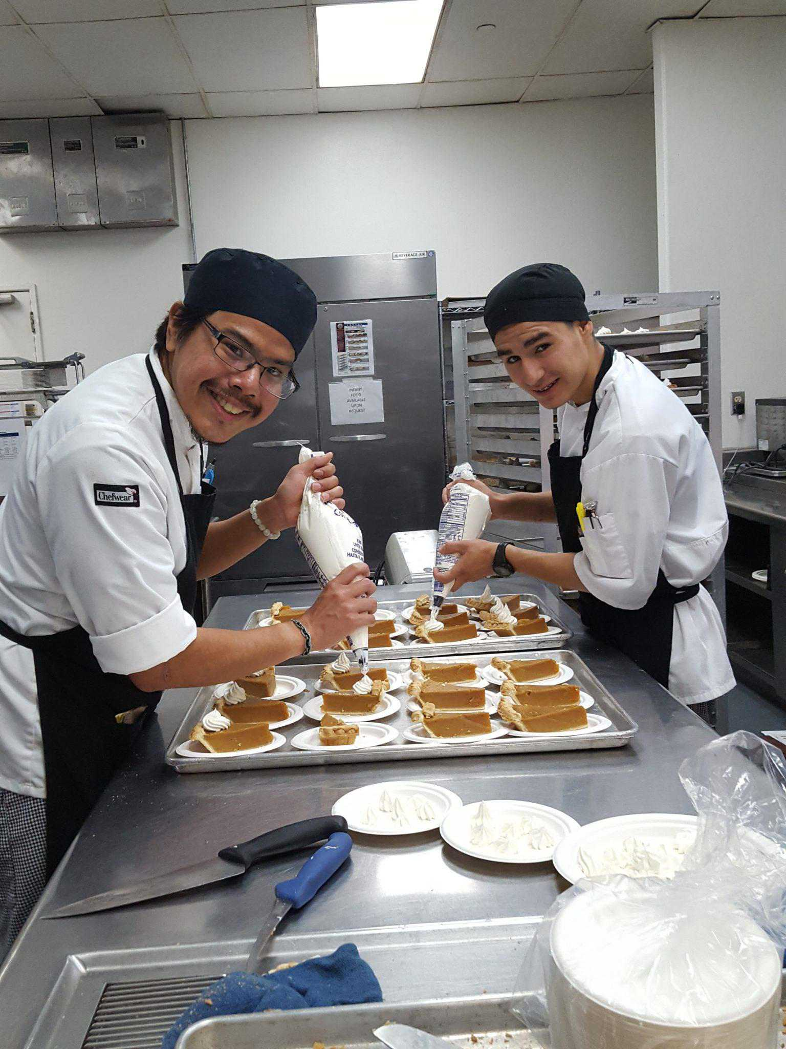 culinary arts program trains members for careers as professional chefs brandon george and enrique worked diligently 8 hours a day monday through friday from to under the guidance of their instructor to