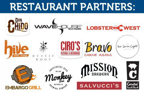 A group of restaurant partner logos