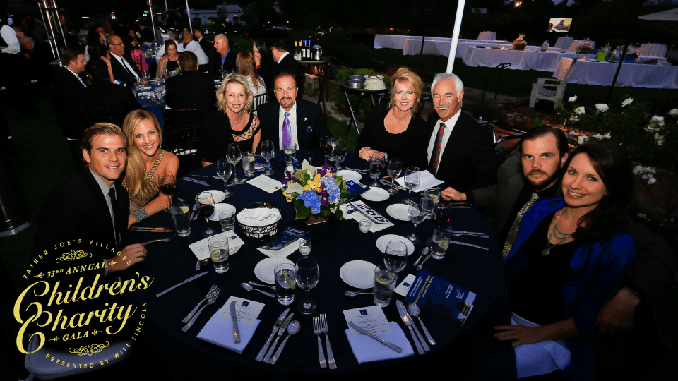 a table of gala attendees