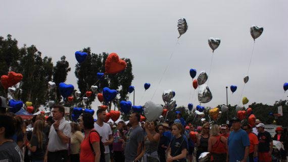 Short walk Home San Diego Heart Balloons