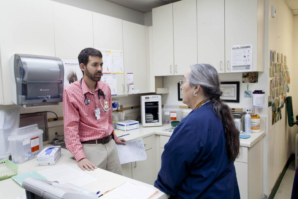 clinic doctor and nurse