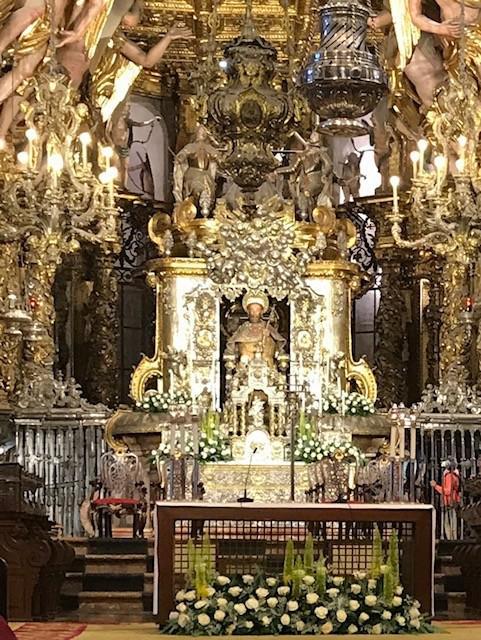 Deacon Vargas views the Main Sanctuary at Cathedral of Santiago de Compostela