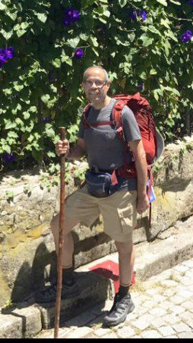 Deacon Jim Vargas is ready to begin his journey on the Camino de Santiago.