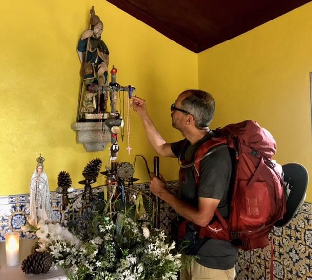 Deacon Jim visits chapel dedicated to St. Mary Magdalene