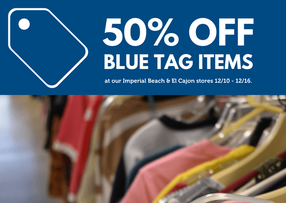 50% Off blue tag items