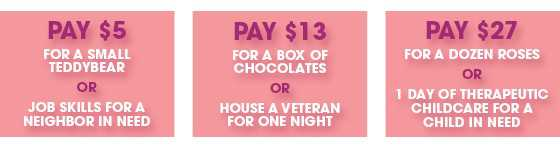 donate for valentines day buttons
