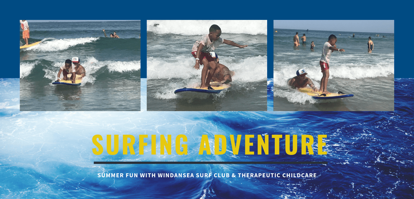 Reads: A Surfing Adventure: Summer fun with Windansea Surf Club & Therapeutic Childcare