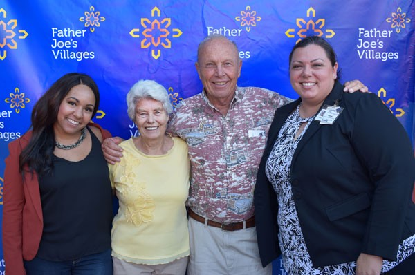 Betty & Cary Becker pose with staff members from Father Joe's Villages at Landlord Appreciation event. | Landlord Incentives Program