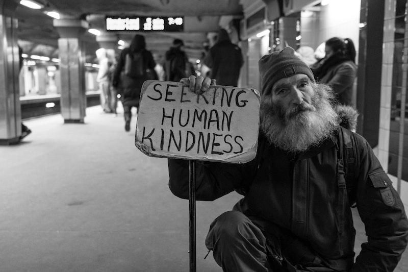 Homeless Man Seeking Kindness