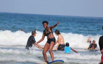 Village Kids Surf the Shores